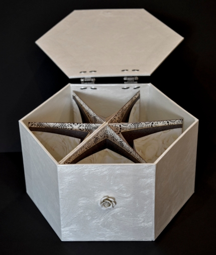 Ginger Burrell Hexagonal Box with Star Book SFSM
